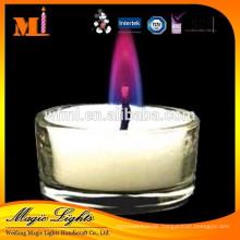 New Style China Professional Produce Splendid Elegant Purple Flame Candles