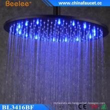 16 '' Ahorro de agua sin batería Cabezal de ducha LED de energía hidroeléctrica
