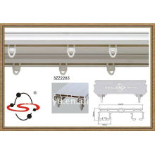 Double plastic curtain track for home decoration,white curtain track