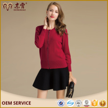 Custom Logos Short Stly Zipper O-Neck Plus Size Female Sweater With Custom-Made