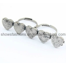 Finger Ring/Two-Finger Alloy Antique Plated Ring/ Fashion Jewelry (XRG12066)