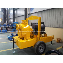 Trailer mounted type self priming sewage pump