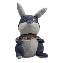 Precioso conejito negro de peluche juguetes de animales suaves personalizados para regalo promocional