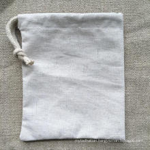 Mini Reusale Natural Wholesale Hemp Bag Drawstring with One String