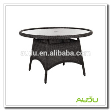 Audu chinese style round dining table with umbrella hole