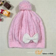 Вязаная Мода Шапочки Детские Шляпа С Бантиком