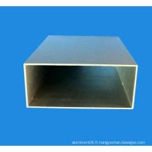 Tube rectangulaire en aluminium