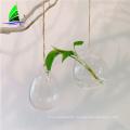 hanging egg shape glass home decor flower vase