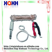 Silicone durable Rubber tattoo Clip Cord cordon d'alimentation avec RCA Pour pédale de pédalier vers le bas