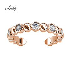 2020 New High Quality Women Jewelry Open Circle Band Ring with Finest Crystal