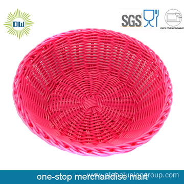 Eco-friendly Colored Small Round Wedding Wicker Basket