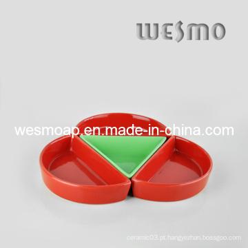 Multicolor Louça Snack Dish Set