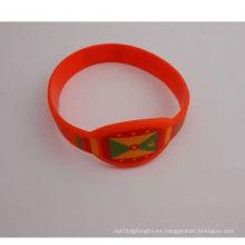Tipo de reloj de pulsera elástica de silicona de moda (GZHY-SW-006)
