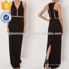 New Fashion Black V-Neck Sleeveless Gown Dress Manufacture Wholesale Fashion Women Apparel (TA5270D)