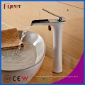 Fyeer White Paint Waterfall Brass Basin Faucet