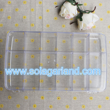 Plastic 10/11/12/18 Slots Transparent Storage Box Case