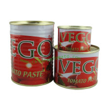 Tinned Tomato Paste (Canned Tomato Paste, 70 g, 210 g, 400 g) From China