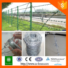 weight of barbed wire per meter length