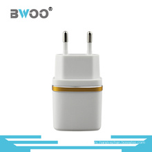 2.1A Portable Dual USB Wall Charger with EU Plug