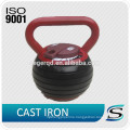 China cast iron adjustable kettlebell