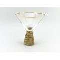 Diamant-Effekt-Cocktailglas mit Goldrand