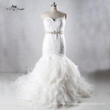 TW0179 Vestidos De Noiva De Luxo De Seda De Ruffle De Tecido De Cristal China