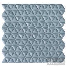 Azulejos de vidro triangulares com arte de parede
