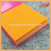 Bloco de nota de nota adesiva de preço barato com nota pegajosa colorida e pegajosa forte para fornecimento