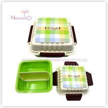 Коробка Контейнер для хранения продуктов пластиковый обед с замком (675ml)
