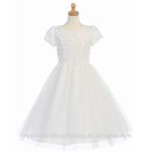 Enfants Mariage 2-12 ans, filles, anniversaire, manches courtes, dentelle, une ligne, fleur, fille, robes, motif, enfants, fête, porter, LF07