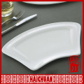 """9"""" 12"""" white color porcelain seafood plate w.whorl"""