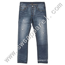 Wholesale Man Stock Fashion Denim Jeans