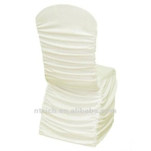 usine de couverture de chaise universelle, CTS791, style plissé, 200GSM meilleur tissu lycra