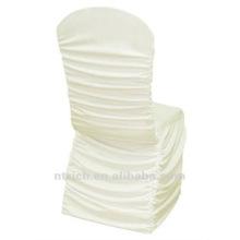 fábrica de capa de cadeira universal, CTS791, estilo plissado, tecido de lycra melhor 200GSM