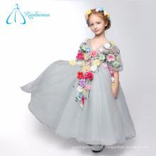 Robe de bal V Neck Flowers Tulle Princess Style Flower Girl Dresses