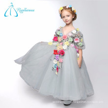Ball Gown V Neck Flowers Tulle Princess Style Flower Girl Dresses