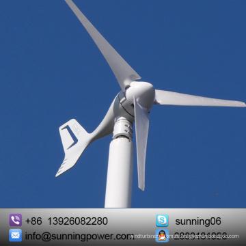 Fazenda Usando o Sistema de Fornecimento de Energia do Gerador Solar de Vento