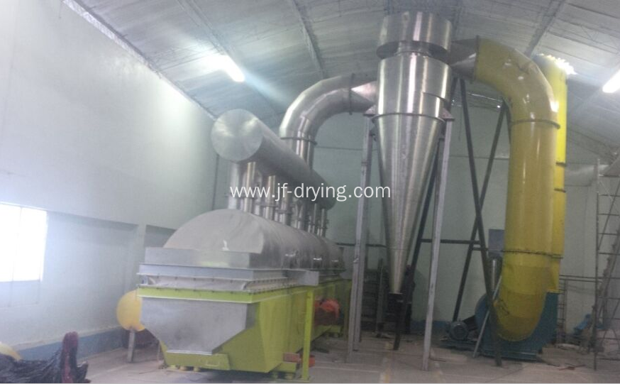 Vibration fluid bed dryer machine