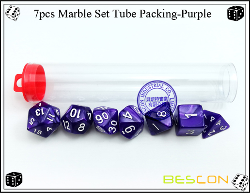 7pcs Marble Set Tube Packing-Purple2