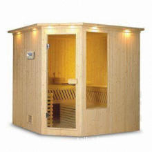 Sauna Room with Wooden Spoon and CD Player, Measures 200 x 145 x 210cm