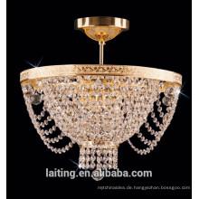 Dekorative Kristall antike Kronleuchter Bronze Deckenleuchte für Wohnzimmer