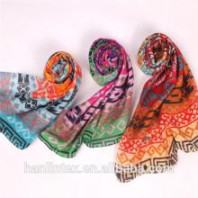 Полиэфирная пряжа из флиса 50% * 50 для шарф / полиэфирная пряжа серая ткань челночное ткачество 80S для шарфа