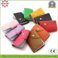 Moda PU ou saco de couro real cartão