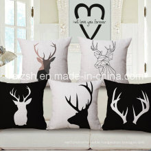 Ikea Modern Black and White Animal Cotton and Linen Pillow Cover Customized Pillow According to Your Designs