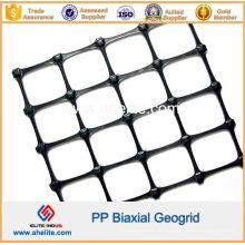 Géogrille biaxiale en plastique PP pour la construction de routes et la protection des pentes
