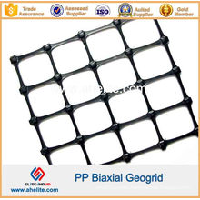 PP Plastic Biaxial Geogrid for Road Construction and Slope Protection