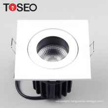 Cut out 7.5CM fire proof led cob spot light 10W square shallow fire rated downlights
