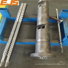 38CrMoAlA de haute qualité ou baril vis jumelle parallèle bimétallique