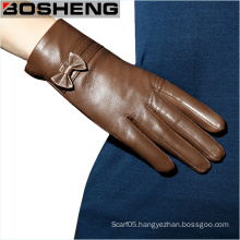 Ladies Glove Fashion Winter Soft Sheepskin Leather Gloves