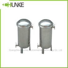 Purificador de aço inoxidável do tratamento da filtragem da água do alojamento de filtro do saco da flange